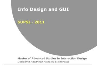 Info Design and GUI