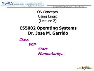 OS Concepts Using Linux