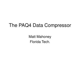 The PAQ4 Data Compressor