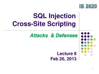 SQL Injection Cross-Site Scripting