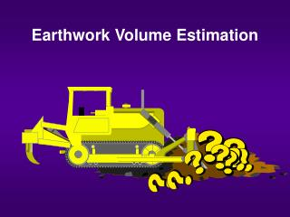 Earthwork Volume Estimation