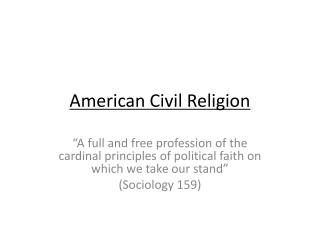 American Civil Religion