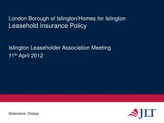 London Borough of Islington/Homes for Islington Leasehold Insurance Policy