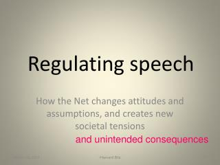 Regulating speech