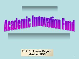 Academic Innovation Fund