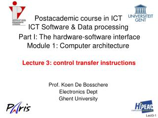 Lecture 3: control transfer instructions