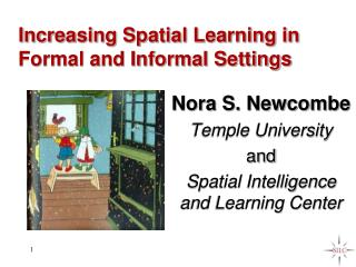 Increasing Spatial Learning in Formal and Informal Settings