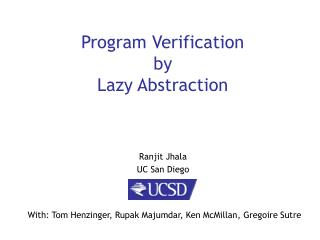 Program Verification  by Lazy Abstraction