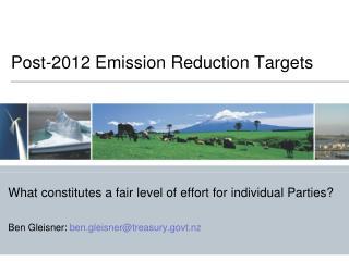 Post-2012 Emission Reduction Targets