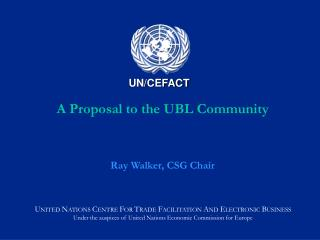 A Proposal to the UBL Community
