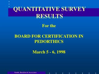 QUANTITATIVE SURVEY RESULTS