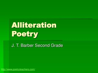 Alliteration Poetry