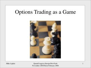 Options Trading as a Game