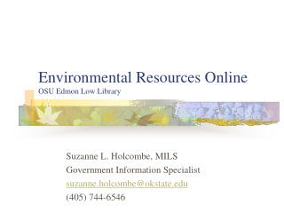 Environmental Resources Online OSU Edmon Low Library