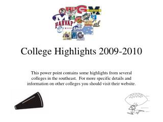 College Highlights 2009-2010