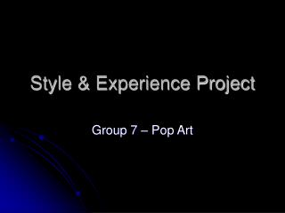 Style & Experience Project