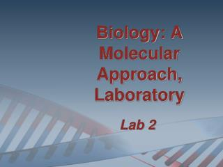Biology: A Molecular Approach, Laboratory