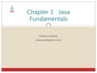 Chapter 1   Java Fundamentals