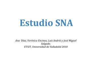 Estudio SNA
