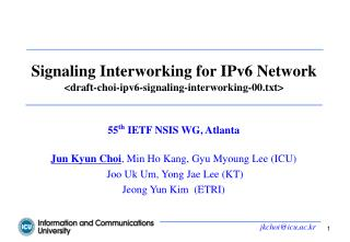 Signaling Interworking for IPv6 Network <draft-choi-ipv6-signaling-interworking-00.txt>