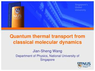 Quantum thermal transport from classical molecular dynamics