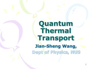 Quantum Thermal Transport