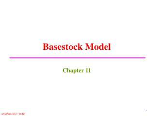 Basestock Model