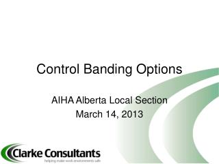 Control Banding Options
