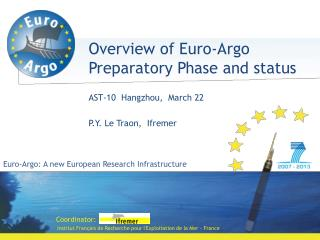 Euro- Argo : A new European Research Infrastructure