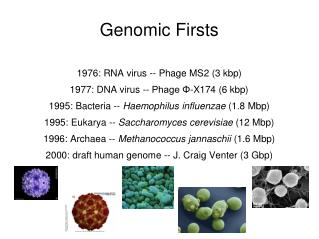 Genomic Firsts