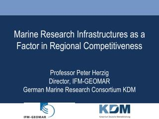 Marine Research Infrastructures as a Factor in Regional Competitiveness