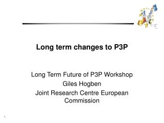 Long term changes to P3P