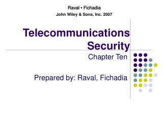 Telecommunications  Security