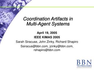 Coordination Artifacts in  Multi-Agent Systems