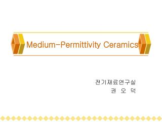 Medium-Permittivity Ceramics