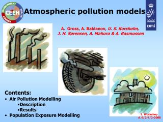 Atmospheric pollution models
