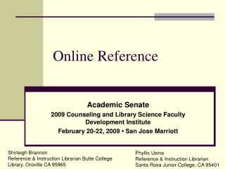 Online Reference
