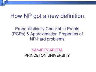 How NP got a new definition: