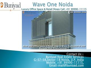 Wave One at sector 18 Noida now available on 50:50 Plan