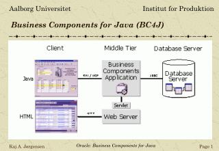Business Components for Java (BC4J)