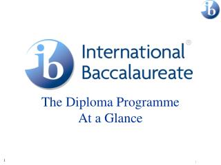 The Diploma Programme At a Glance