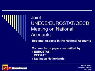 Joint UNECE/EUROSTAT/OECD Meeting on National Accounts