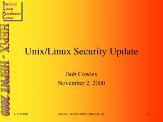 Unix/Linux Security Update