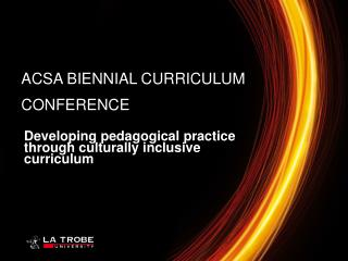 Developing pedagogical practice through culturally inclusive curriculum