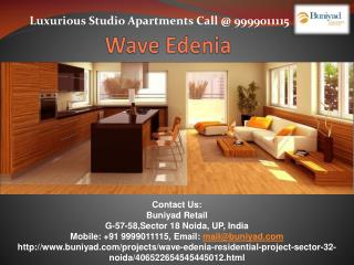 Preeminence Studio Apartments in Wave Edenia
