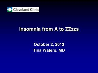 Insomnia from A to ZZzzs