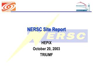 NERSC Site Report