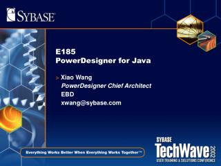 E185 PowerDesigner for Java