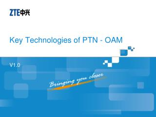 Key Technologies of PTN - OAM