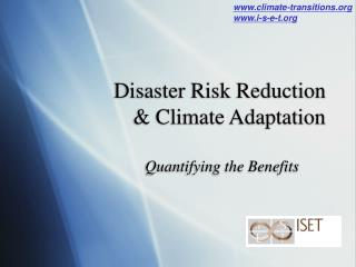 Disaster Risk Reduction  & Climate Adaptation